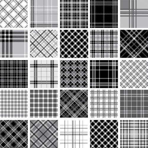 Set Of Fabric Patterns Vector 03 Print Design Pattern Fabric