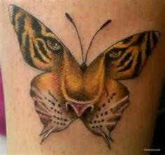 Tiger Face Inside Butterfly Tattoo Google Search Tiger Tattoo Design Friend Tattoos Butterfly Tattoo