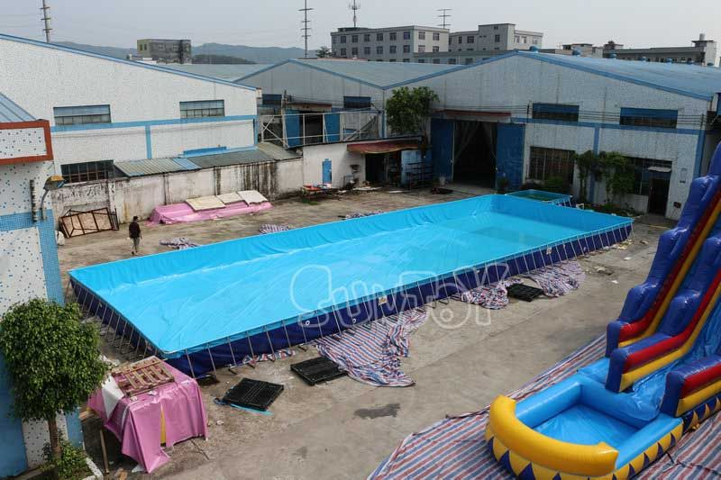 25Mx8Mx1M Large above ground inflatable frame swimming pool ...