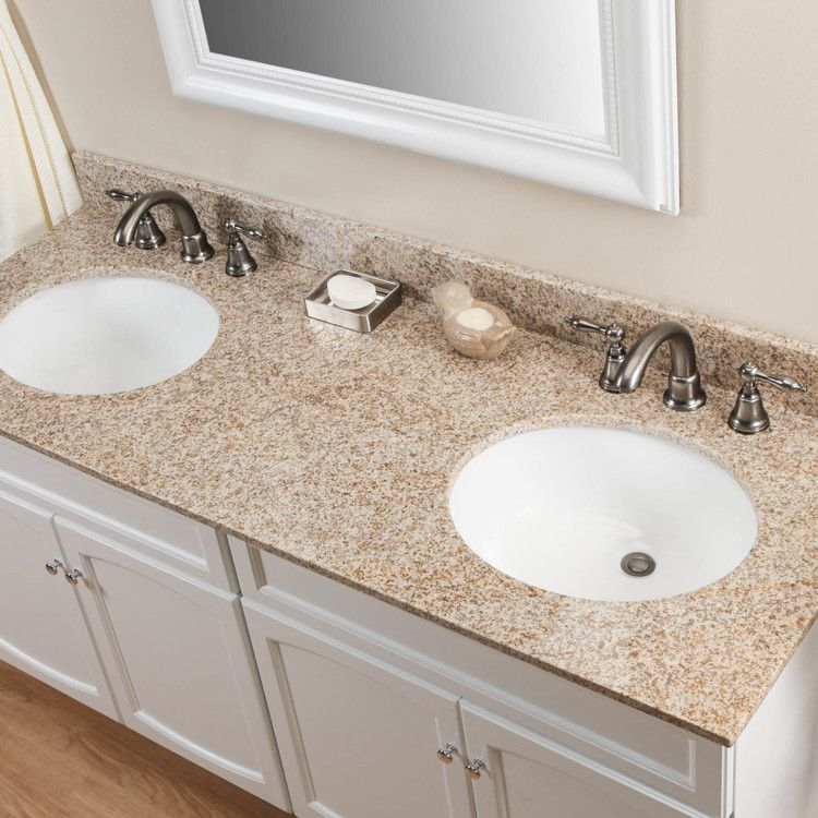 61 Granite Double Vanity Top With Undermount Sinks With Images