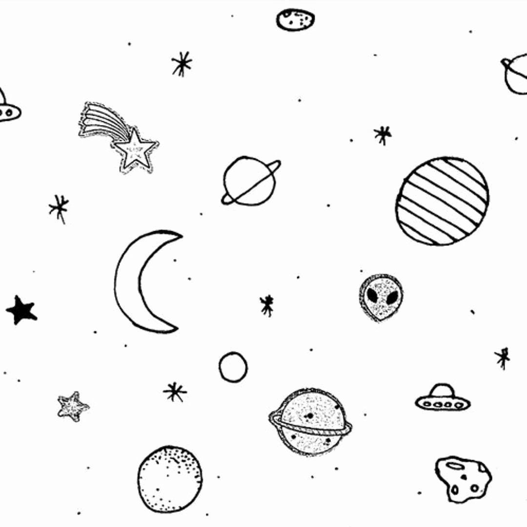 Coloring Pages Outer Space Lovely Aesthetic Tumblr Coloring Pages In 2020 Space Coloring Pages Outer Space Drawing Coloring Pages