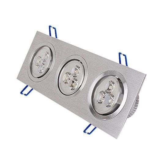 9w Led Ceiling Light Downlight Spotlight Lamp Recessed Lighting Fixture With Adjustable Angle Led Ceiling Lights Recessed Lighting Recessed Lighting Fixtures