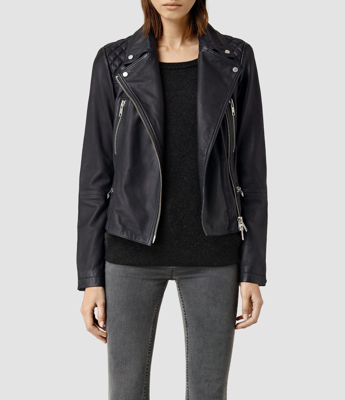 Bleeker Leather Biker Jacket All saints leather jacket