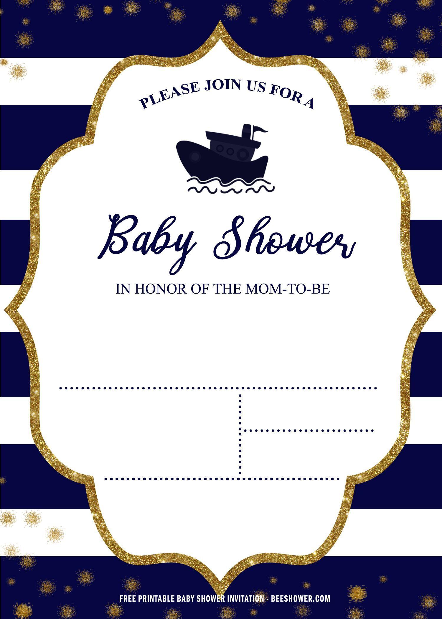Free Printable Nautical Baby Shower Invitation Templates Nautical Baby Shower Invitations Printable Baby Shower Invitations Free Printable Baby Shower Invitations