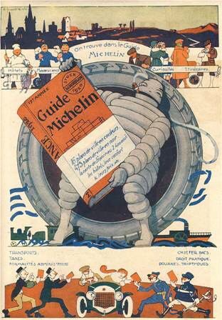 Bibendum Michelin Publicite Pour Le Guide Rouge Michelin Man Retro Ads Vintage Ads