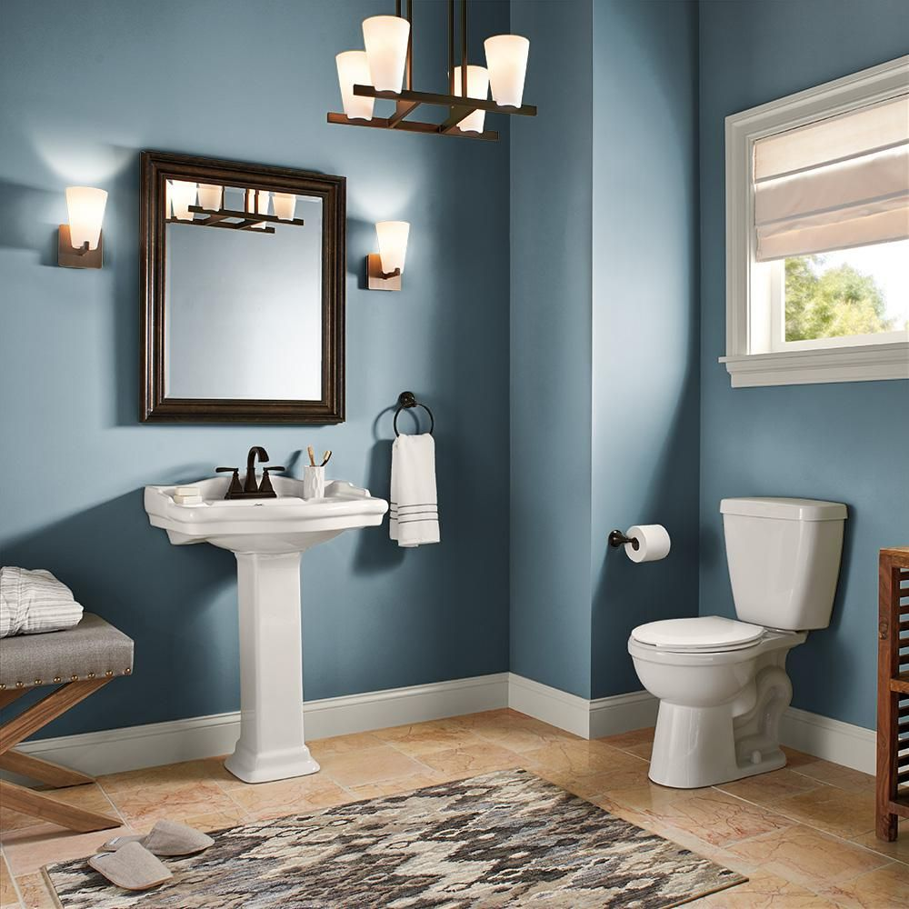 Behr Ultra 1 Gal S470 5 Blueprint Extra Durable Satin Enamel Interior Paint And Primer In One 775401 The Home Depot Painting Bathroom Behr Marquee Paint Interior Paint