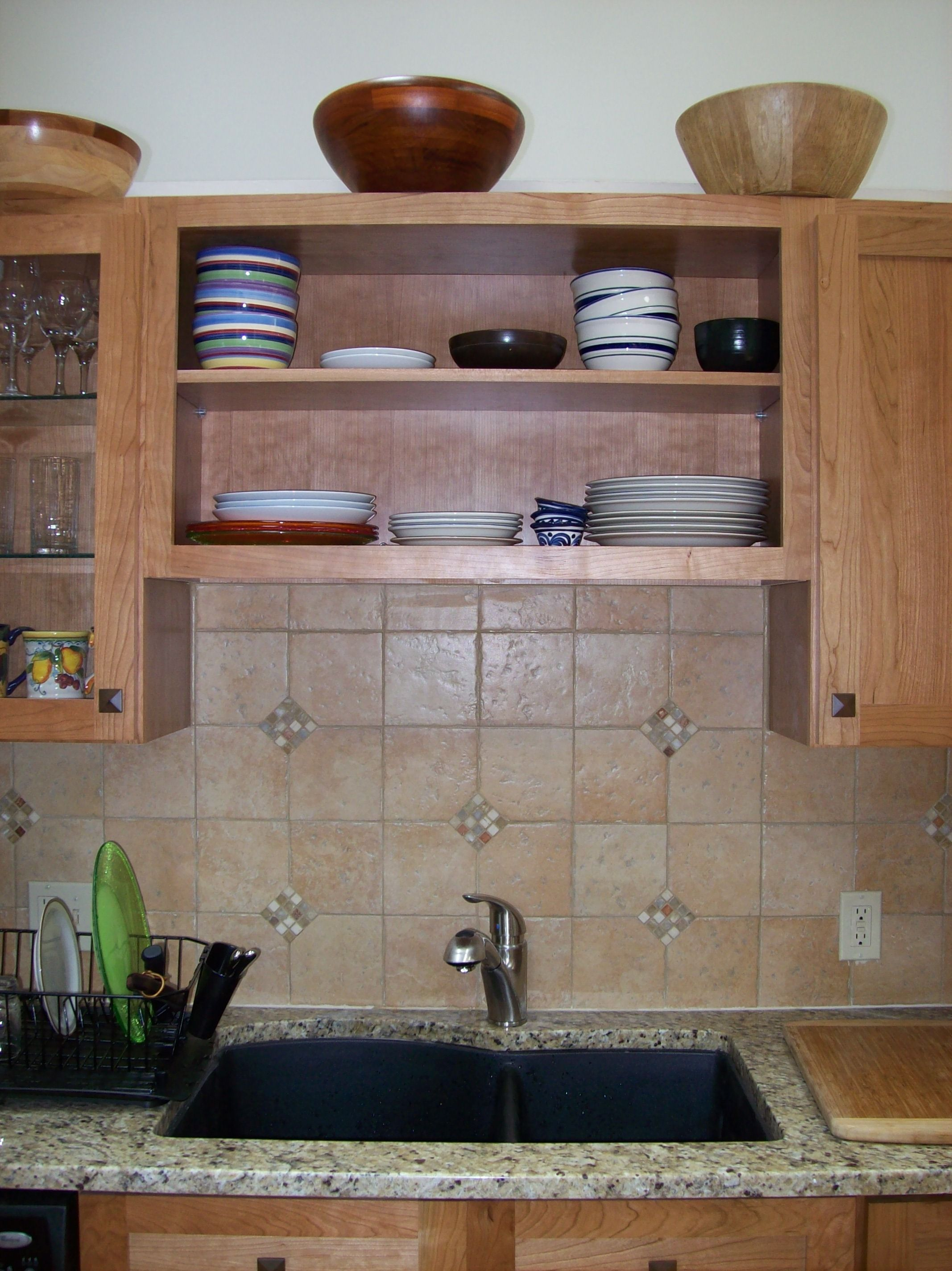 Cherry cabinets, stone accent (With images)   Cherry ...