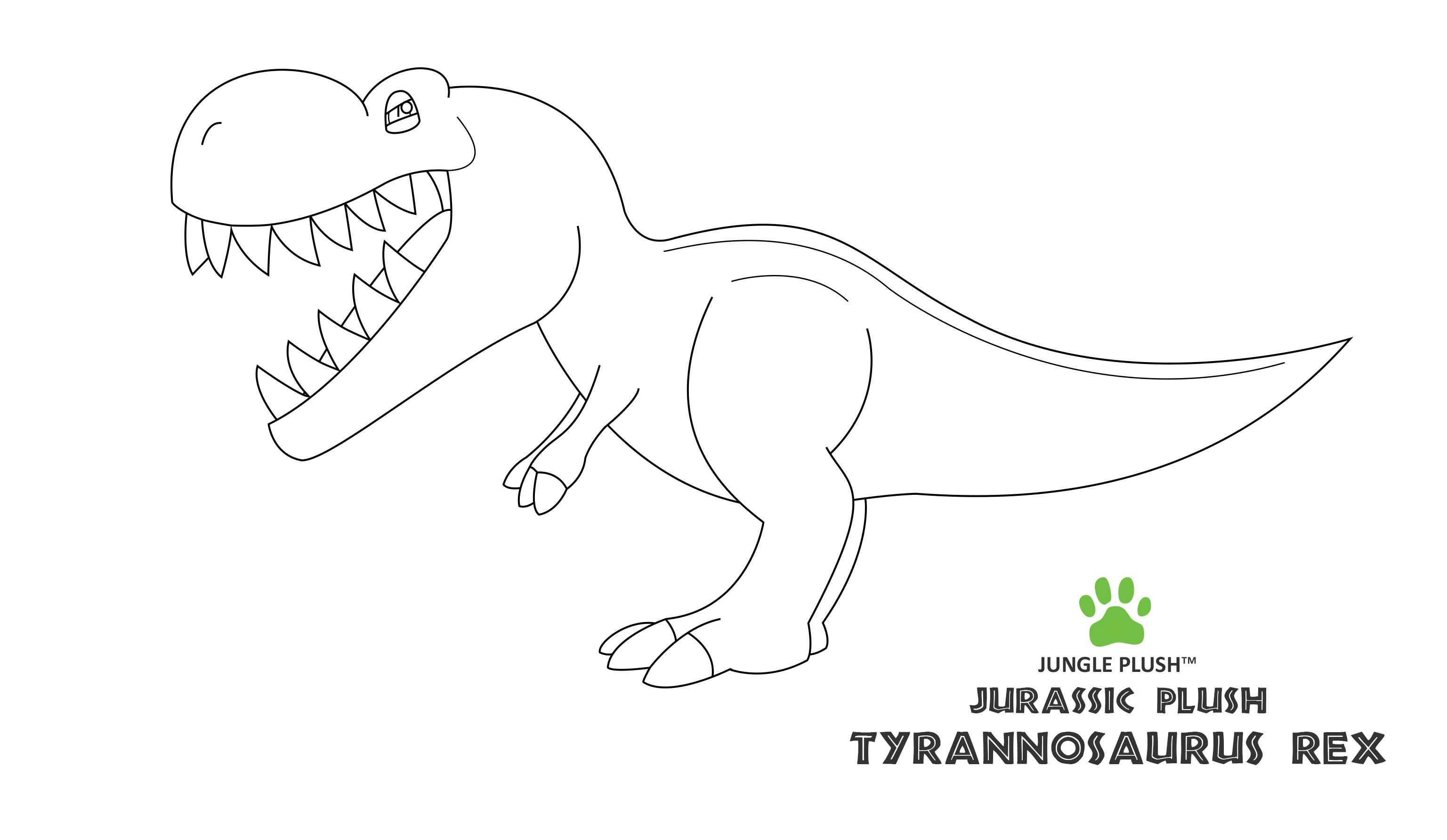 Outline of our first plush dinosaur! T.Rex main sketch. :)