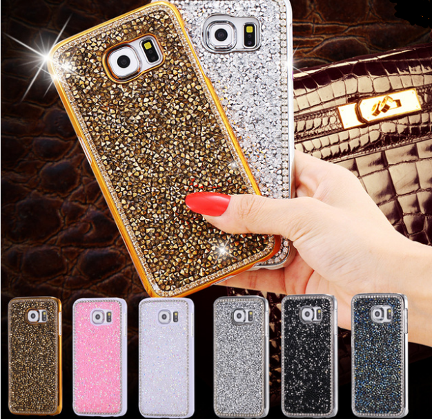375c7c88a27 Samsung S6/ S6 Edge Plus Women Girl Plated Metal Case For Samsung Galaxy S6/S6  Edge Bling Crystals Edge & Full Diamond Slim Back Cover