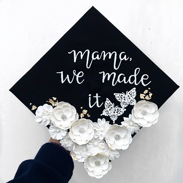 Image result for mama we made it graduation cap