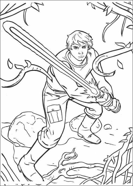 Luke Skywalker Coloring Pages Sofia Pinterest Coloring