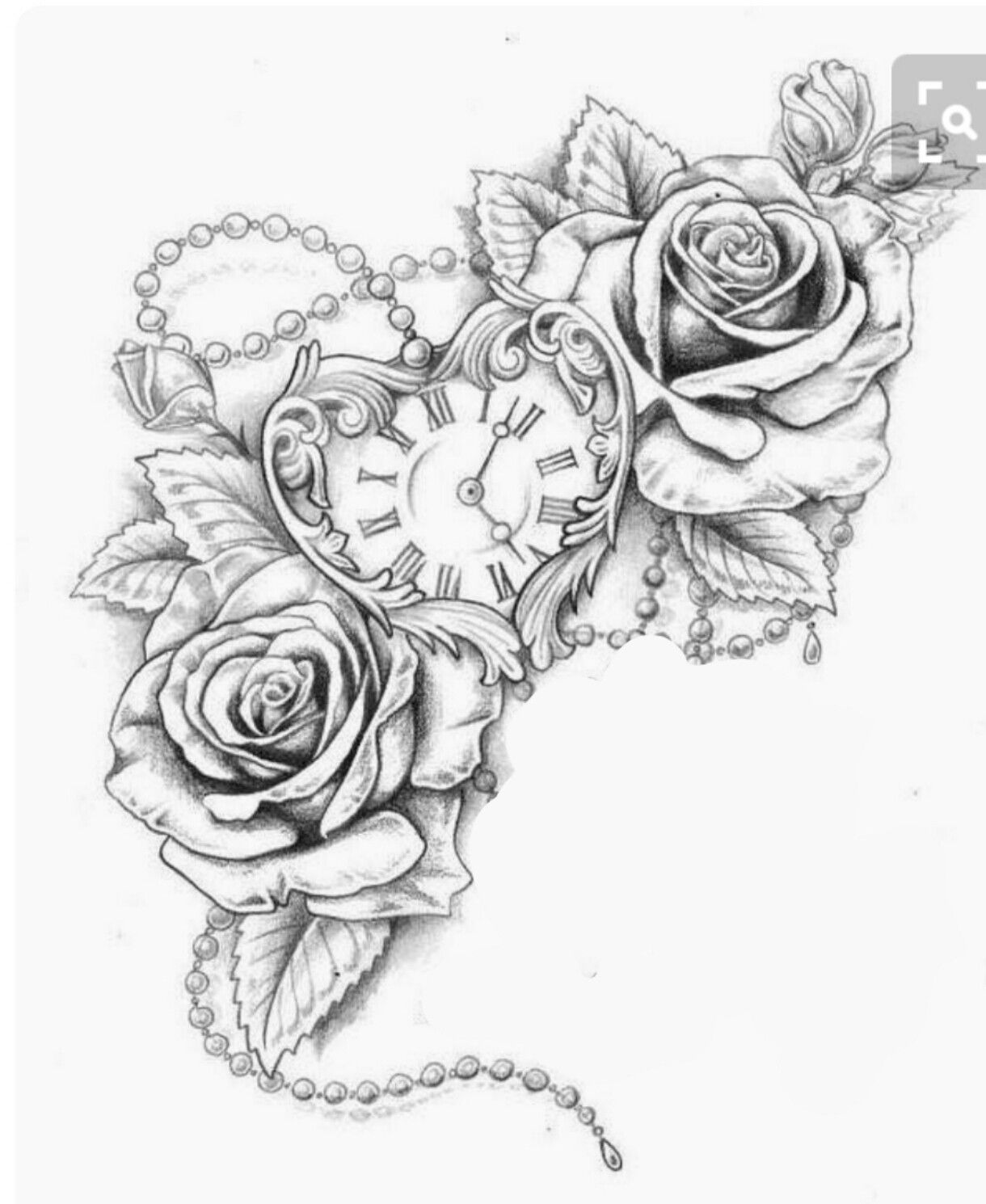 Rose Clock Tattoo Designs Drawing: Tattoos, Half Sleeve Tattoos