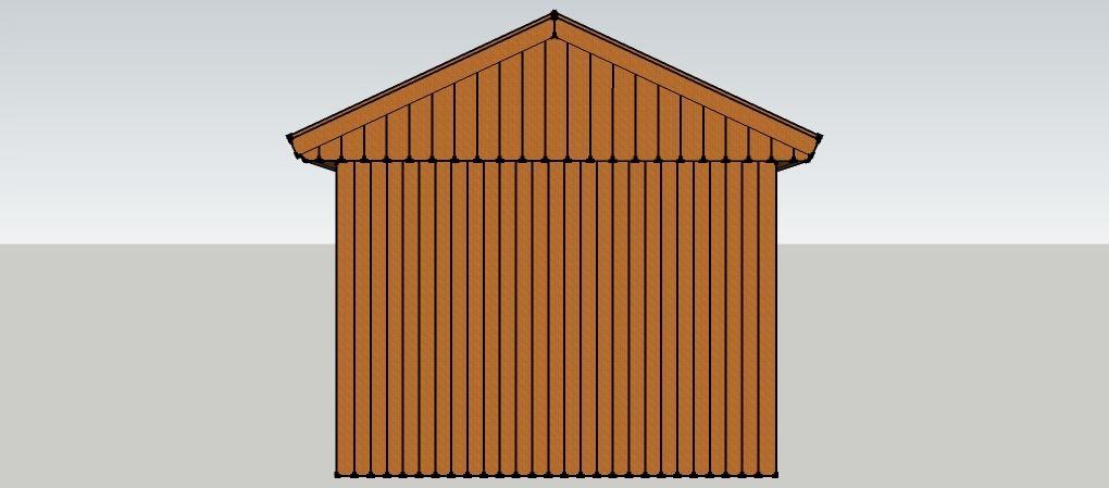 carport 3 x 9 meter mit satteldach und ger teschuppen aus. Black Bedroom Furniture Sets. Home Design Ideas