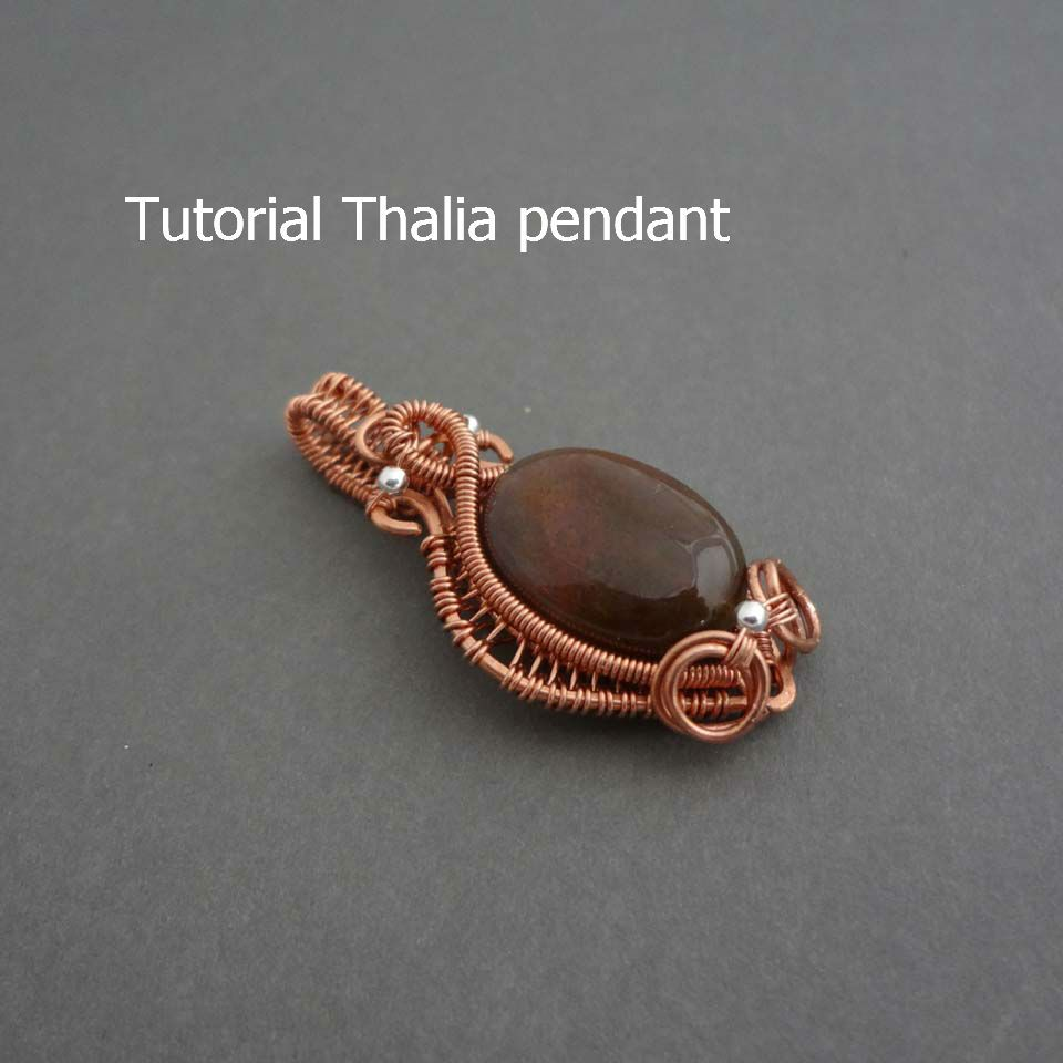 Thalia wire wrapped pendant tutorial - Instant download | Handmade ...
