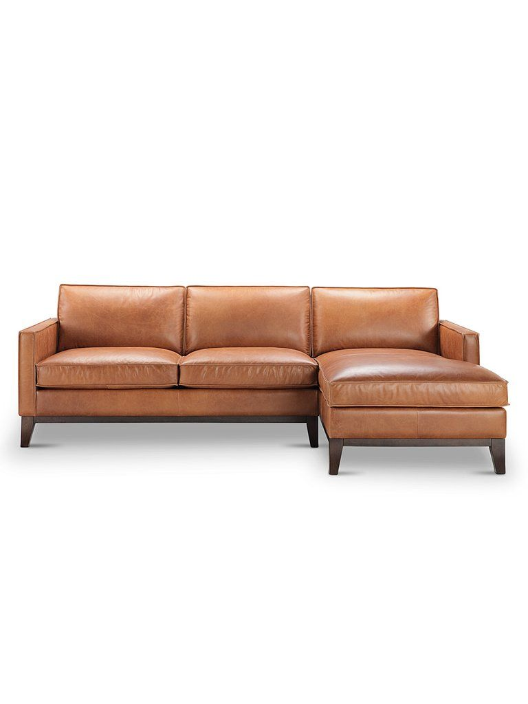 Willis Top Grain Leather Sectional Chelsea Honey