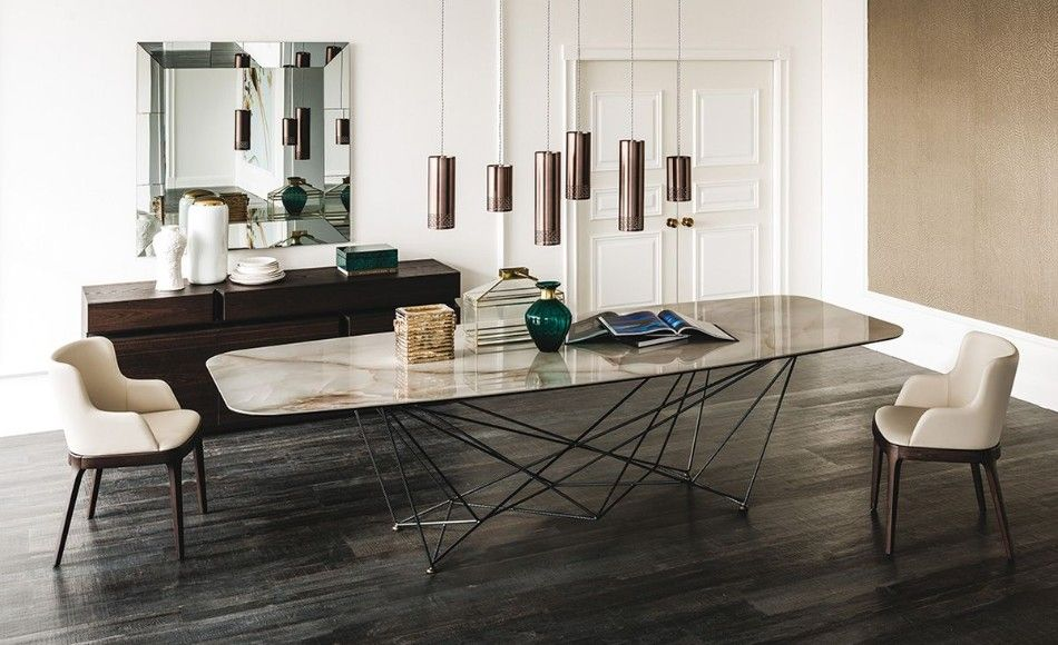 Top 2018 Modern Dining Tables Trends On Pinterest Luxury Dining Room Modern Dining Room Keramik Dining Table