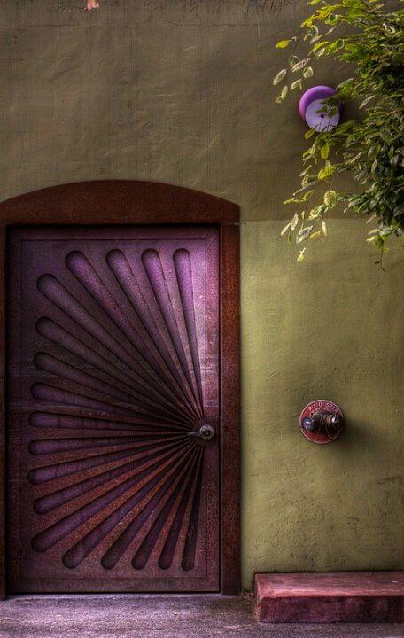 Olive Green Aubergine Essence From My Board Https Www Pinterest Com Sclarkjordan Olive Green Aubergine Essence Purple Door Iron Doors Entry Doors