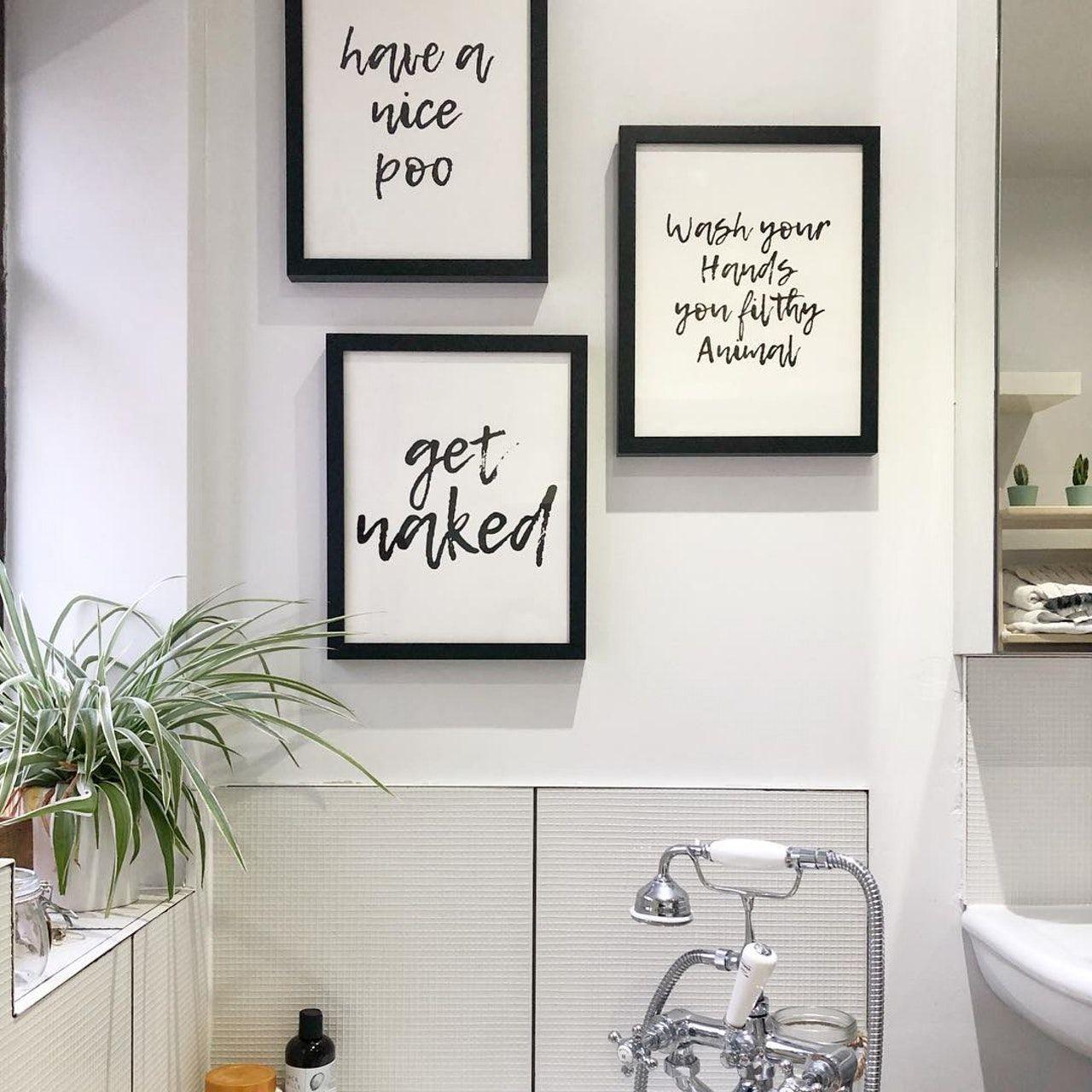 Have A Nice Poo Art Print In 2020 Creative Wall Decor Bathroom Artwork Bathroom Gallery Wall