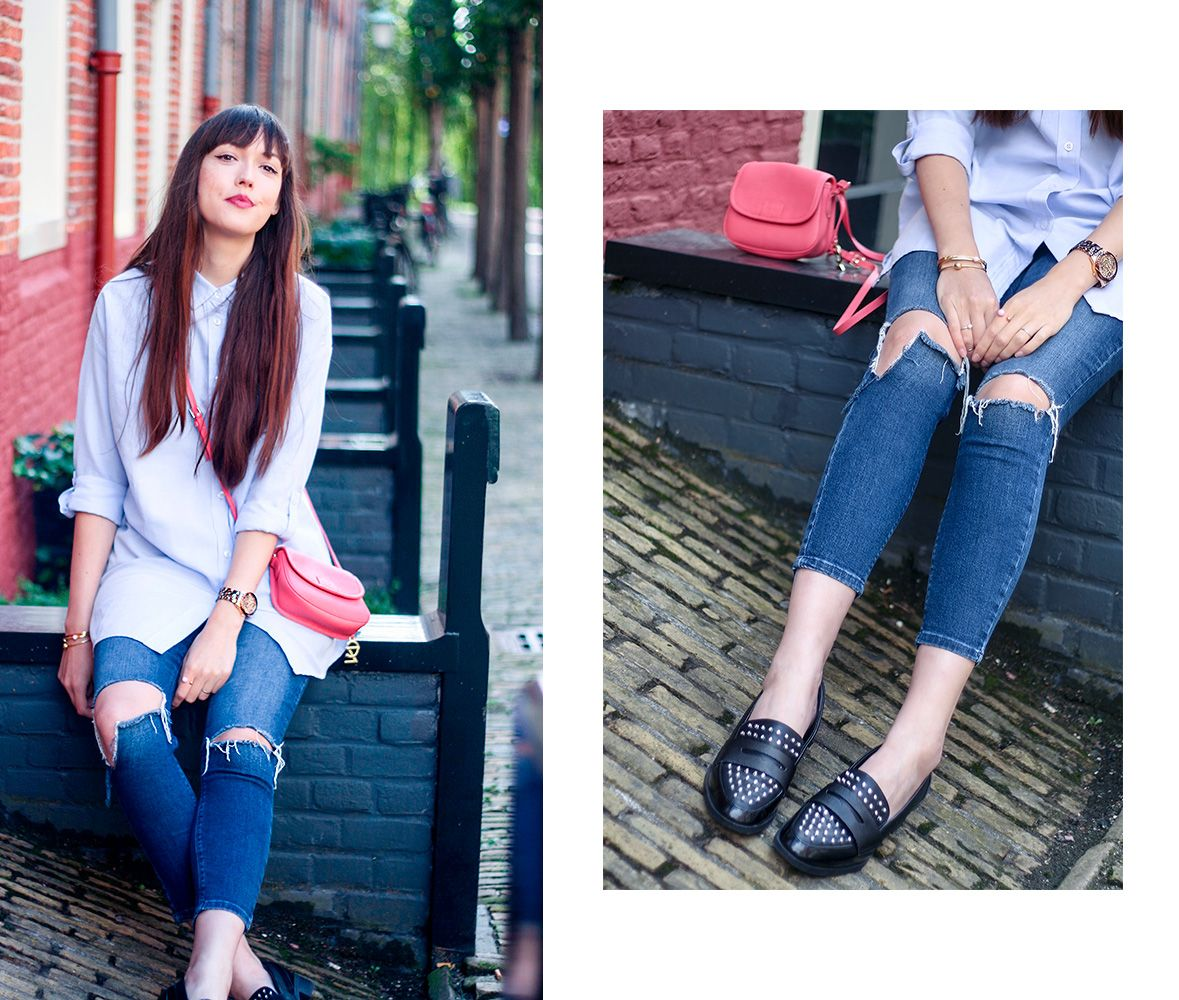 7507820bc14b59 Iris Dijkers of A Dash of Fash wears the  Lali  studded loafer from Circus  by Sam Edelman