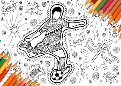 football coloring page footballer coloring page coloring page coloring to print instant