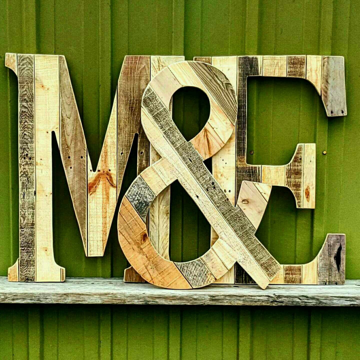 Mix and Match reclaimed wood letters go with all types of decor ...