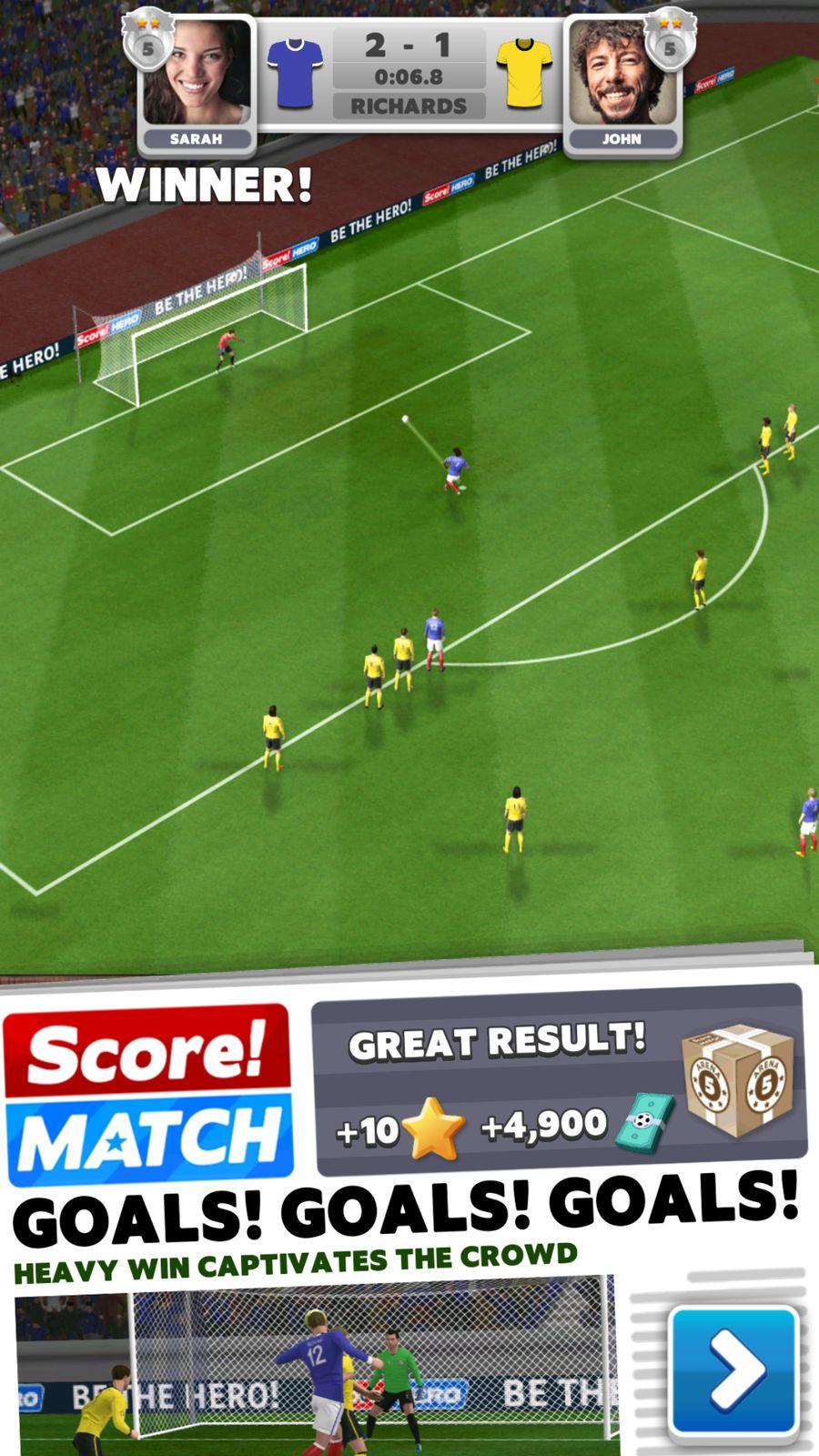 Score! Match ActionSportsappsios Score hero, Online