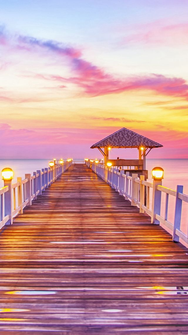 Fury Wonderful Sunset Wooden Bridge Skyscape Iphone 5s Wallpaper Download Iphone Wallpapers Ipad Wallp Sunset Wallpaper Beach Wallpaper Beautiful Wallpapers