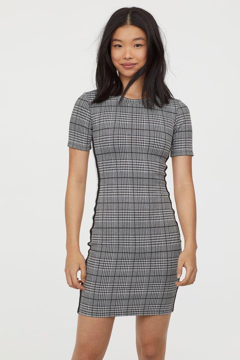 Jersey dress short fitted dress short sleeve dresses