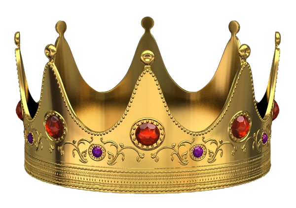 Golden Crown With Red Diamonds Png Picture Crown Clip Art Crown Png Golden Crown