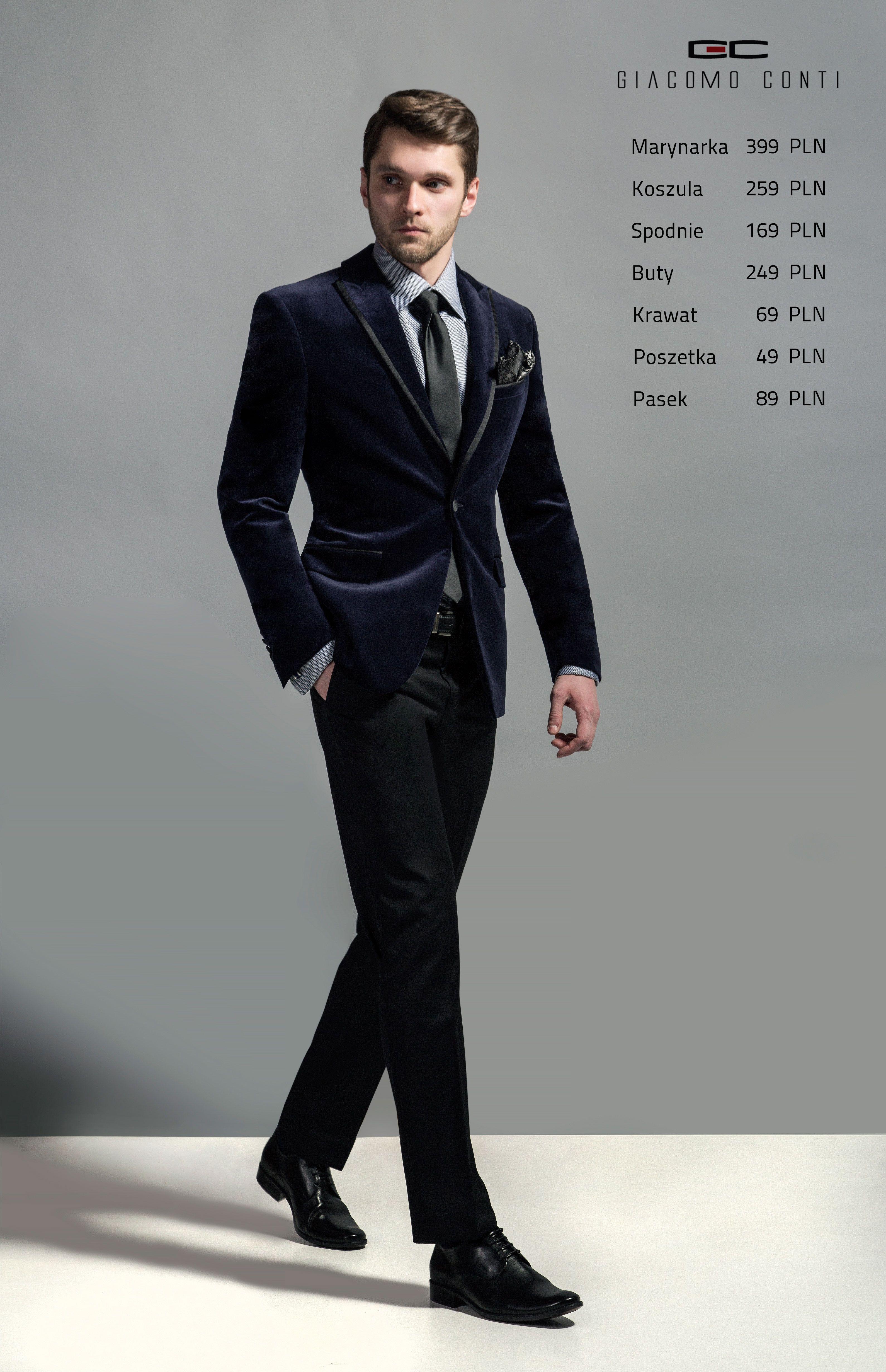 Stylizacja Giacomo Conti Marynarka Valerio E13 48 B Koszula Juseppe 15 11 14 K Spodnie Fabio 02 S Buty Czarne 150 Fashion Style Formal