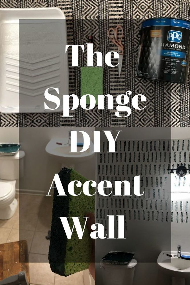 Diy Sponge Accent Wall In 2019 Homemade Wall Decorations