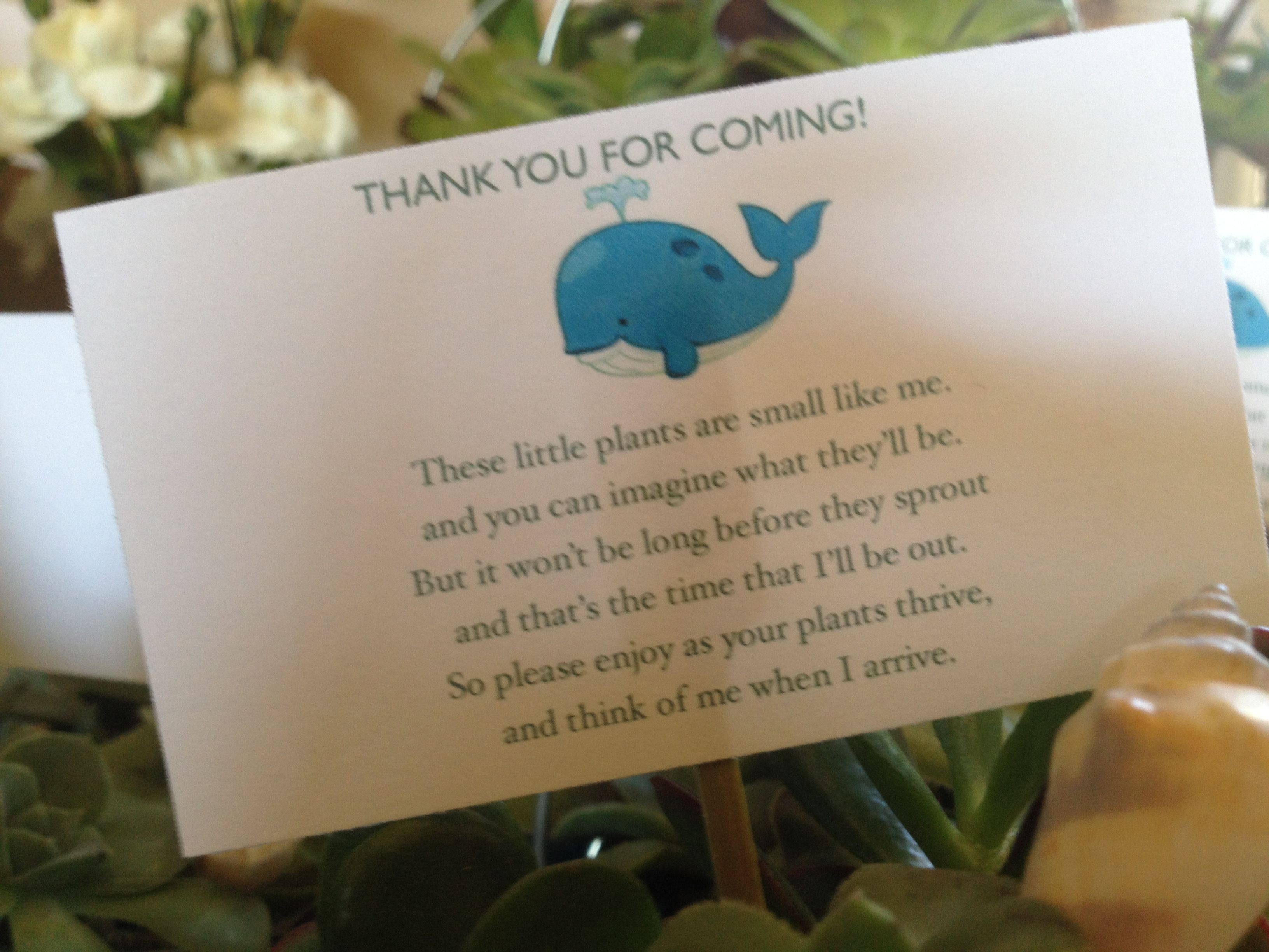 Beach Pail Party Favors Saying Thank You For Coming