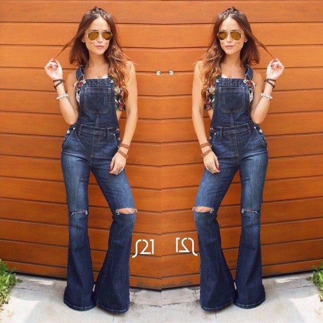 7275b682e Flare Jeans Outfit, Jeans Outfit Winter, Overalls Outfit, Casual Winter  Outfits, Denim