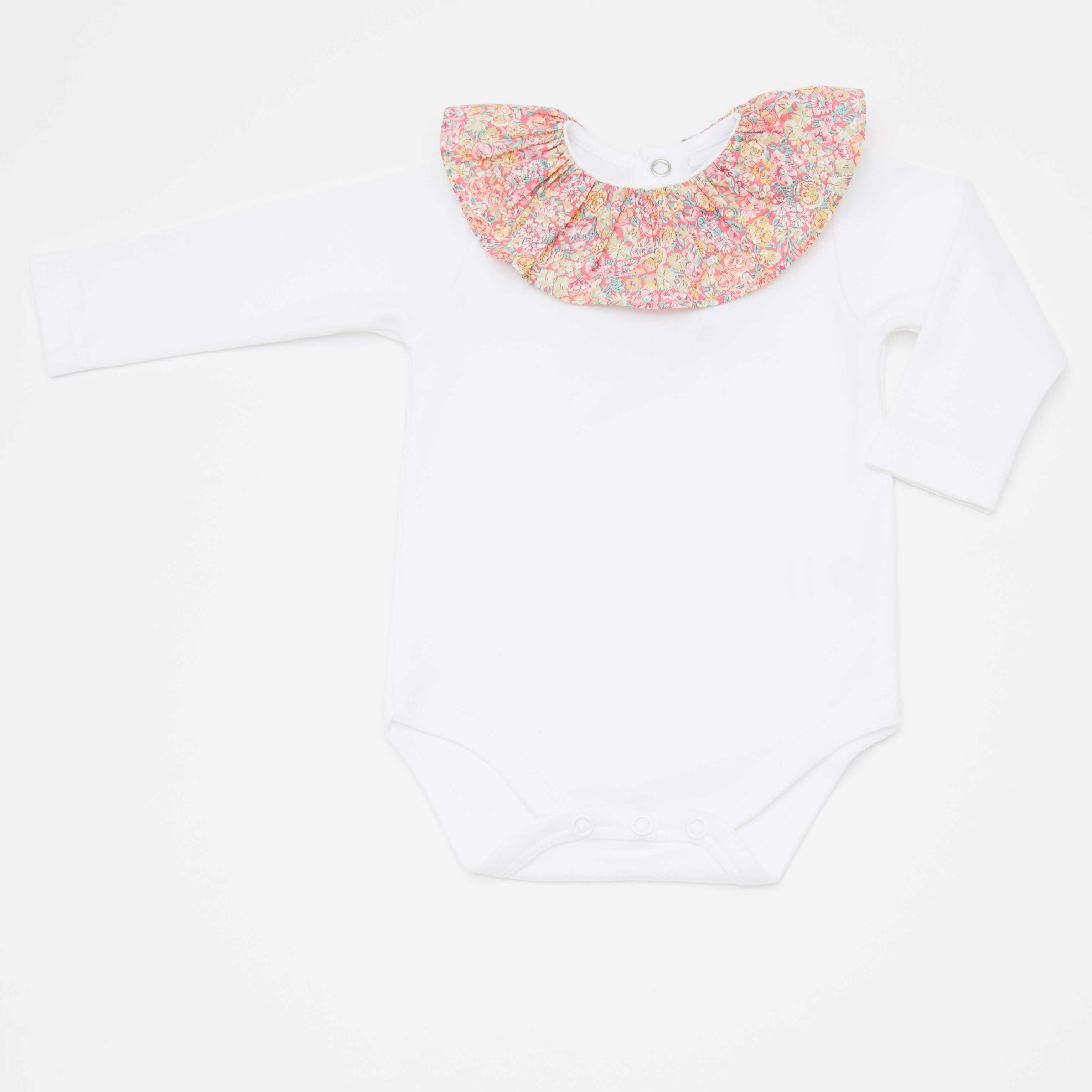Baby bodysuit pink frill collar online boutique shop for casual