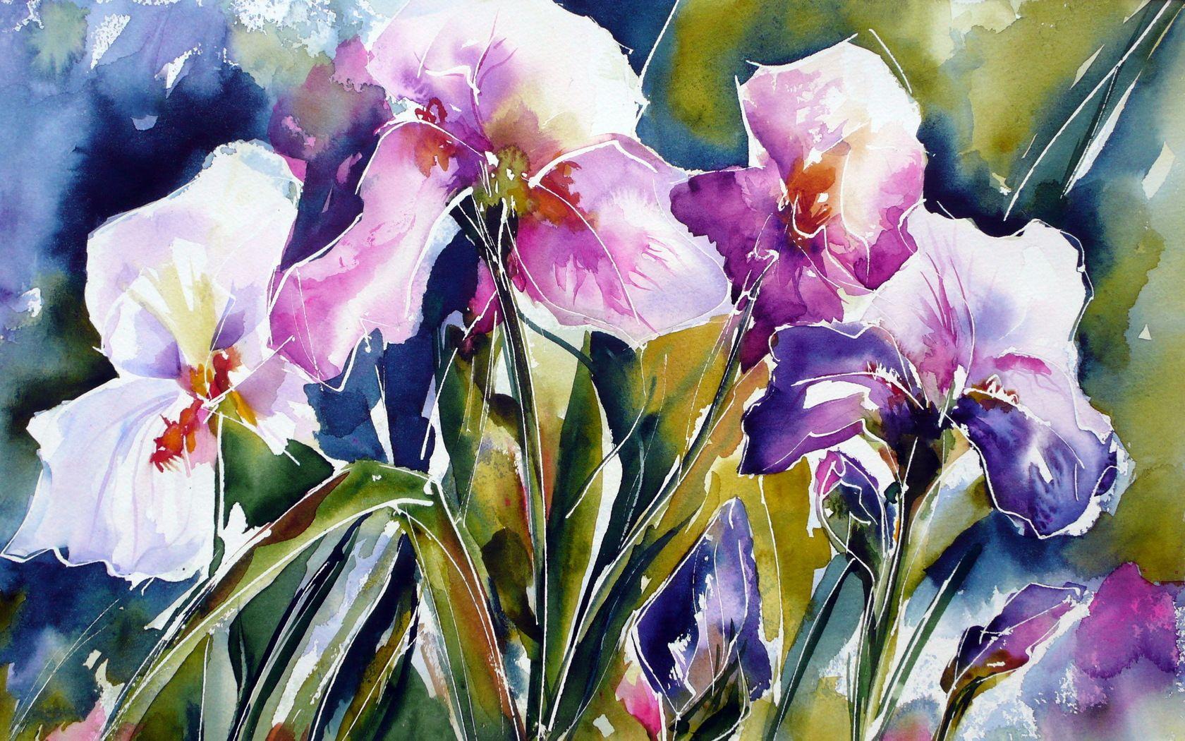 como pintar flores en acuarela - Buscar con Google