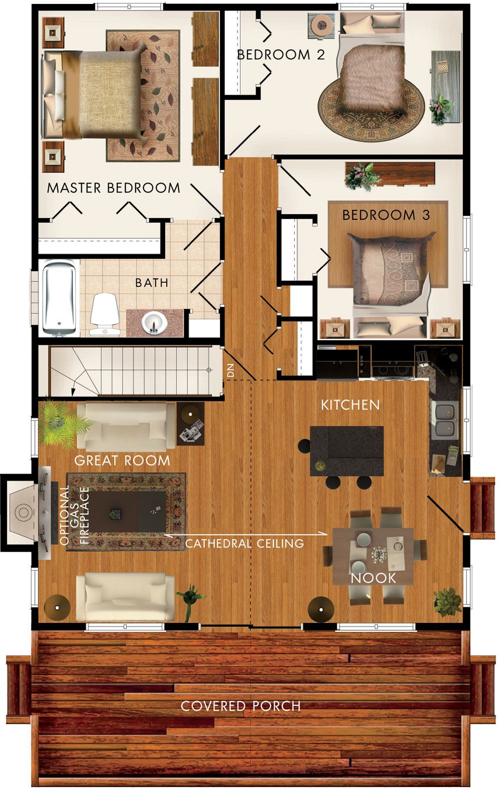 baywood ii floor plan no basement stairs means space for a