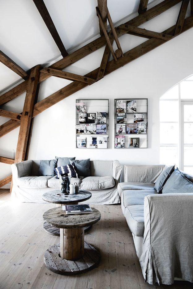 Wohnzimmer skandinavisch einrichten 22 Ideen für Hussensofa Interiors