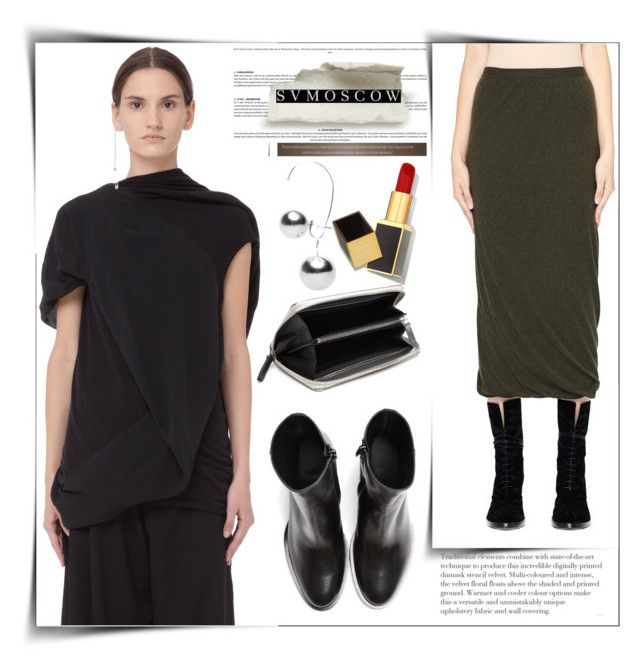 """Svmoscow"" by sabine-rose ❤ liked on Polyvore featuring Rick Owens Lilies, A.F. Vandevorst, Maison Margiela and Tom Ford"
