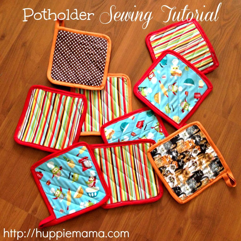 Potholder sewing tutorial my mom used to do this all the time with scraps and
