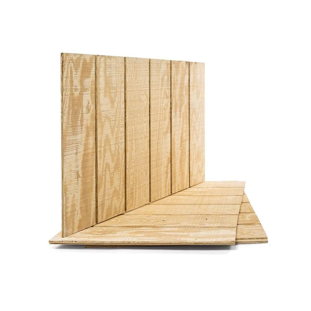Plytanium Plywood Siding Panel T1 11 8 In Oc Nominal 19 32 In X 4 Ft X 8 Ft Actual 0 563 In X 48 In X 96 In 113699 The Home Depot Plywood Siding Wood Panel Siding Wood Siding Exterior