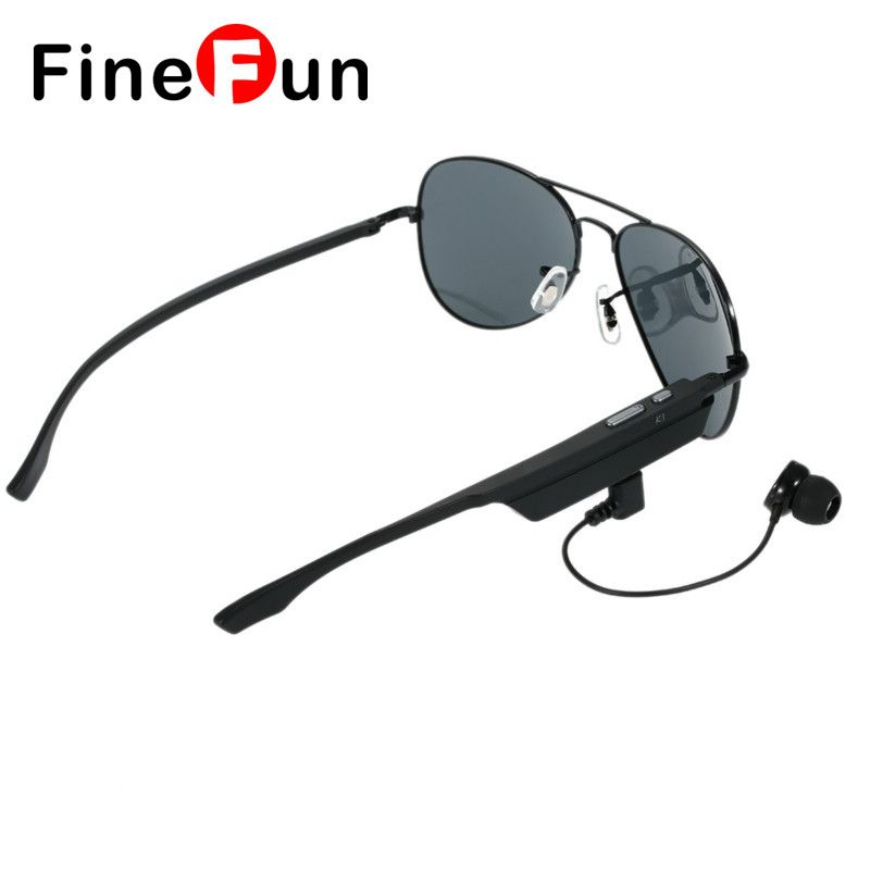 476cfc8c2d FineFun Bluetooth K3 Polarized Sunglasses Glasses Mini USB Speaker-External  Microphone Headset 4.1+ EDR Wireless Music
