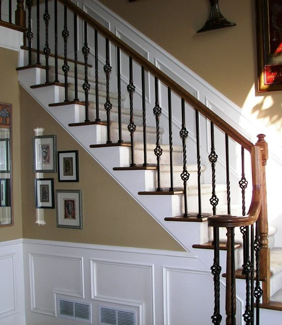 Staircase Remodel, Iron Staircase
