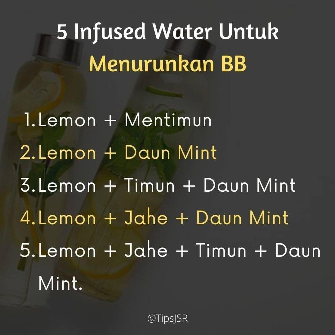 Catatan Sehat Jsr On Instagram Resep Infused Water Untuk Menurunkan Berat Badan Ata Diet Yuk Sehat Bareng Bareng Denga Berat Badan Diet Infused Water