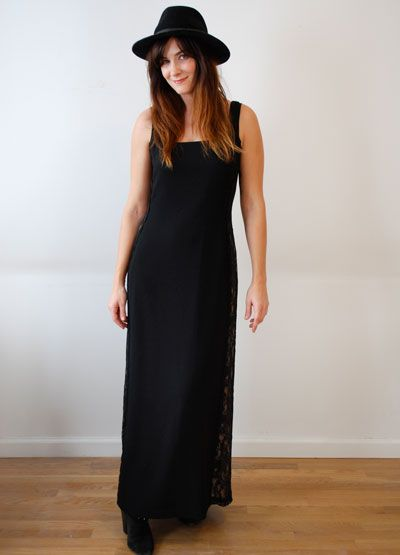 Black Lace Maxi Dress Uncovet