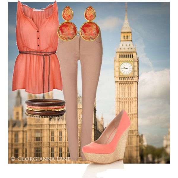 """""""coral"""" by bubblee961 on Polyvore"""