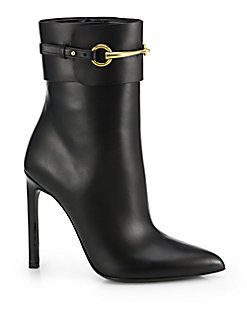 Boots, Leather boots heels