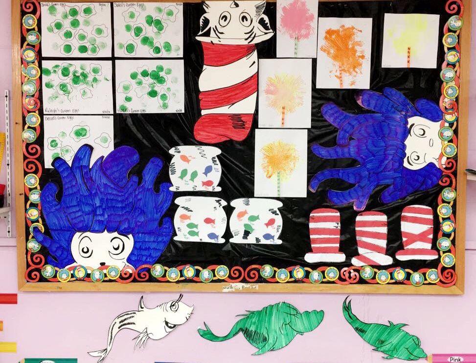 Dr seuss bulletin board and toddler crafts toddler