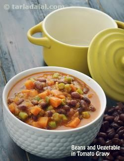 Beans and vegetables in tomato gravy recipe vegetarian recipes beans and vegetables in tomato gravy recipe vegetarian recipes by tarla dalal tarladalal forumfinder Gallery
