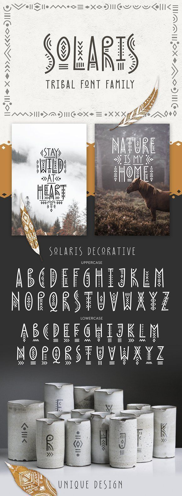 Solaris  Tribal Font Family by t on Creative Marketcreative