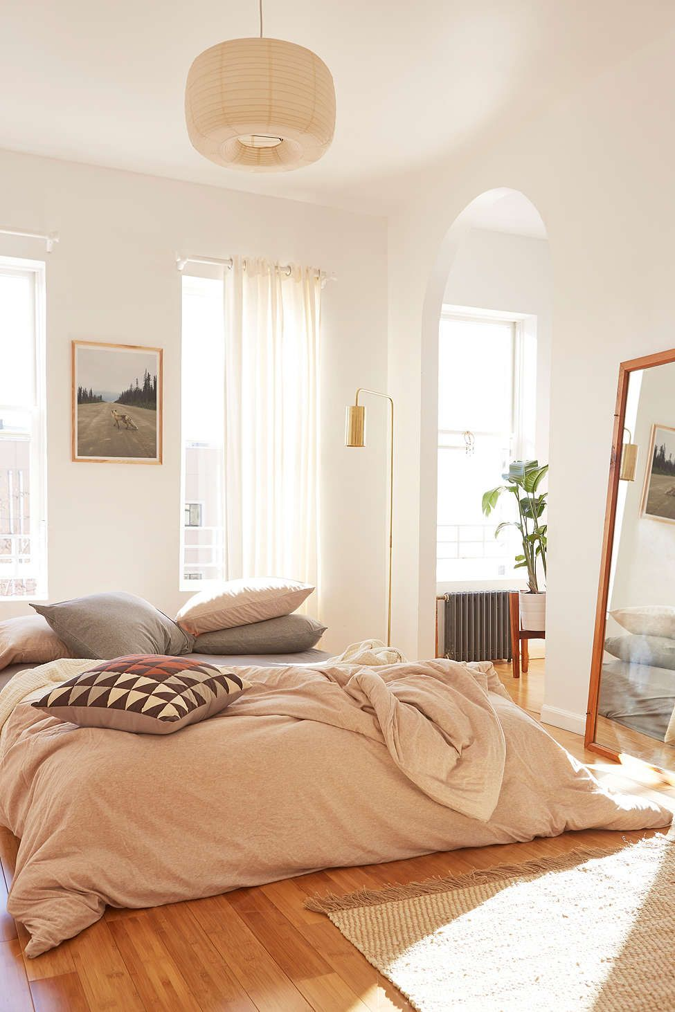 39161d55a38 Heathered Jersey Duvet Cover - Urban Outfitters
